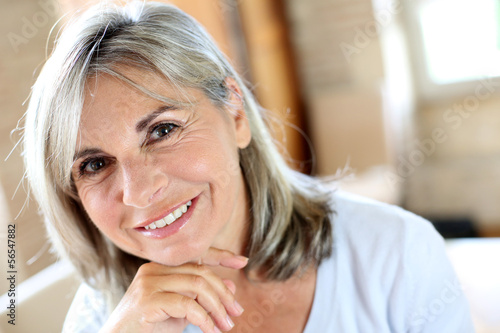 Portrait of senior woman relaxing at home