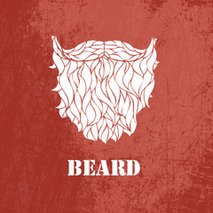 Man's beard .Vector part of face
