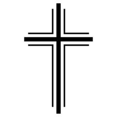 Religiöses Kreuz Beerdigung Vektor