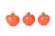 Ripe tomatoes isolated on a white background