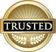 Trusted Gold Vintage Label