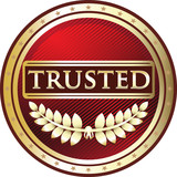 Trusted Red Vintage Label