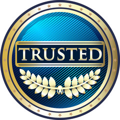 Trusted Blue Vintage Label