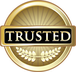 Trusted Gold Vintage Label