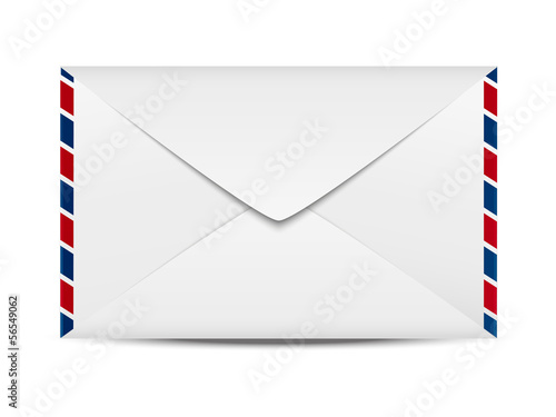 Envelope icon on white