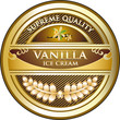Vanilla Ice Cream Vintage Label