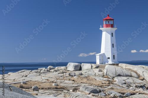 Fotobehang Vuurtoren / Mill Peggy's Cove lighthouse, Nova Scotia