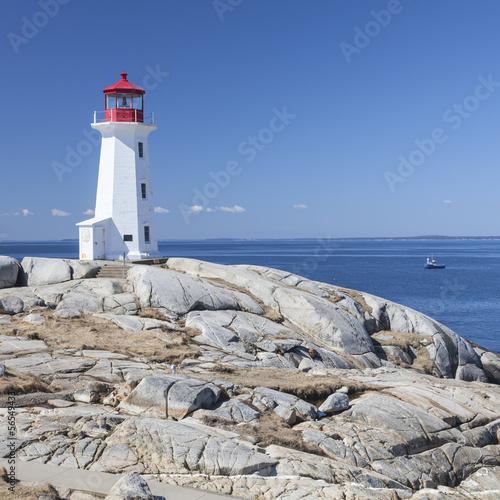 Zdjęcia na płótnie, fototapety, obrazy : Peggy's Cove lighthouse, Nova Scotia