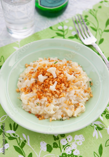 Cauliflower Risotto with crumbs