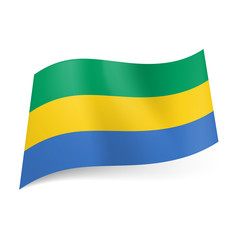 State flag of Gabon.