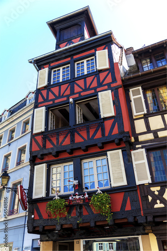 Typical houses in Alsace, France