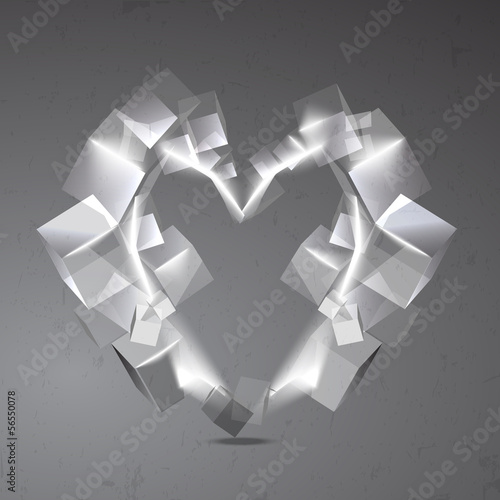 Vector abstract background with heart