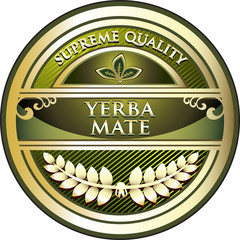 Yerba Mate Vintage Label