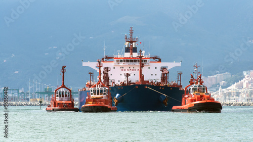 the tanker arrives in port