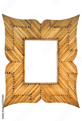Photo frame made with matches isolated on white