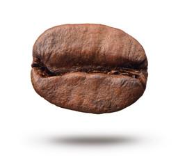 Coffee bean on white background.