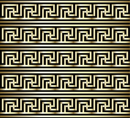 Seamless Meander Gold Pattern