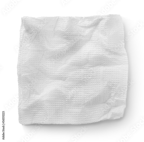 Paper napkins isolated