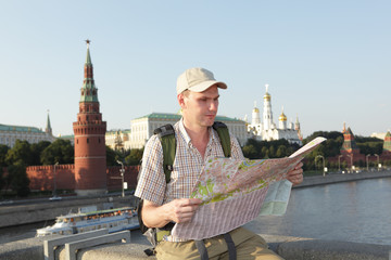 Tourist in Moscow, Russia