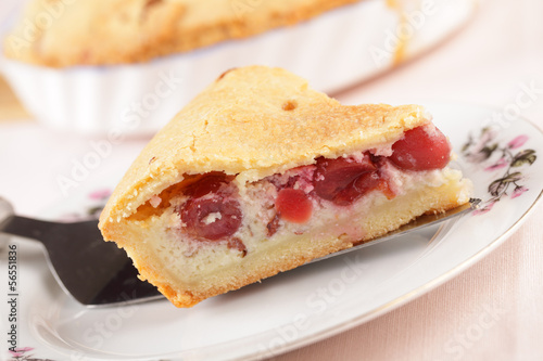 Basque cherry pie