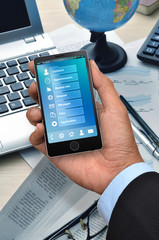 Business application on smart phone