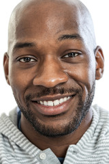 Handsome Black Man Headshot Portrait