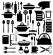 Kitchen tool. Cutlery vector icons set