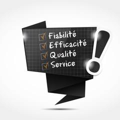 bulle origami : fiabilité efficacité Qualité Service