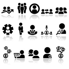 Business man vector icons set EPS 10