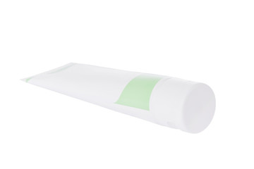 Ointment tube isolated on a white background.