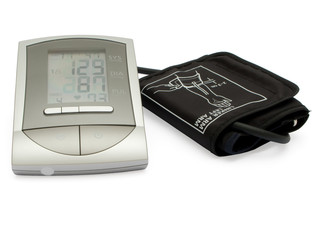Modern digital blood pressure measurement equipment.