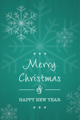 merry christmas schneeflocken karte türkis