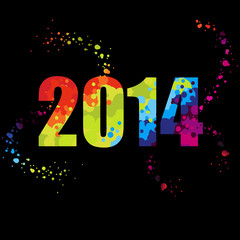 2014 with colored dots