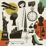 Ephemera - Set of retro objects and design elements poster