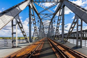 Historical railway bridge in Tczew, Poland
