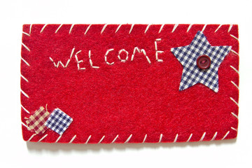 Sign velvet welcome
