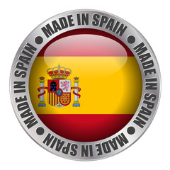 """MADE IN SPAIN"" label (badge stamp flag spanish produce)"