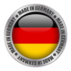 """MADE IN GERMANY"" label (badge stamp flag german produce)"