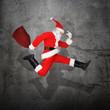 Santa springt hoch