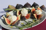 figues farcies, dessert, figs, fromage, cheese