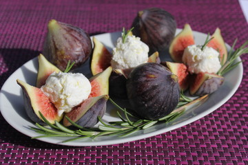 figue, figs, fromage, cheese, figues farcies