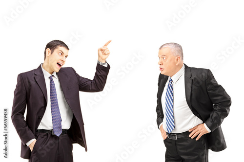 Angry business colleagues during an argument