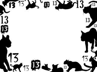 thirteen black cats frame