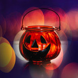 Halloween glass pumpkin