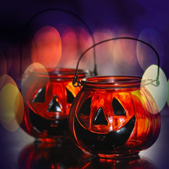 Halloween glass pumpkins