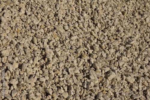 background of white gravel stones