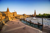Spanish Square at sunset (Plaza de España) in Sevilla, Spain