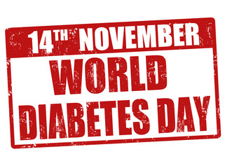 World diabetes day stamp
