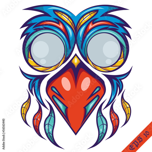 Colorful Bird Mask Shirt Design