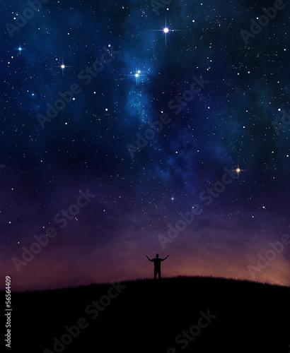 Night sky praise - 56564409